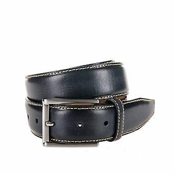 Stylish Anthracite Pantalon Belt With Contrasting Stitching