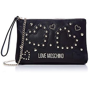 الحب موسكينو Jc4033pp1a حقيبة معصم المرأة السوداء (أسود) 4x16x25 سم (W x H x L)