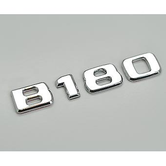 Silver Chrome B180 Flat Mercedes Benz Car Model Rear Boot Number Letter Sticker Decal Badge Emblem For B Class W245 W246 W247 AMG