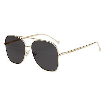 Fendi FF0378/G/S 2F7/7Y Gold/Grey-Gold Mirror Sunglasses