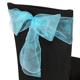 17cm x 274 cm Organza Table Runners Breder en Voller Sjerp Aqua Blue