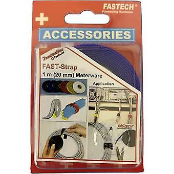 FASTECH® 910-131C Haak-en-lus tape voor bundeling haak en lus pad (L x W) 1000 mm x 20 mm Blauw 1 m