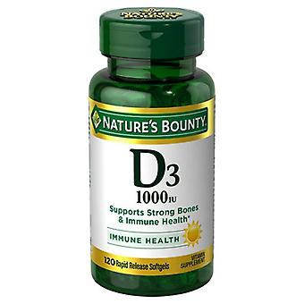 Nature's bounty vitamin d3, 1000 iu, softgels, 100 ea