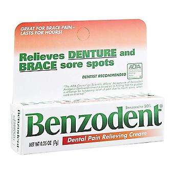Benzodent dental pain relieving cream, 0.25 oz