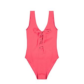 Ganni A2242459 Femmes-apos;s Costume d'une seule pièce en nylon rouge