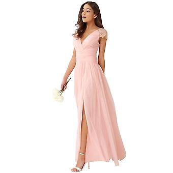 Little Mistress Womens/Ladies Gathered Pearl Tulle Maxi Dress
