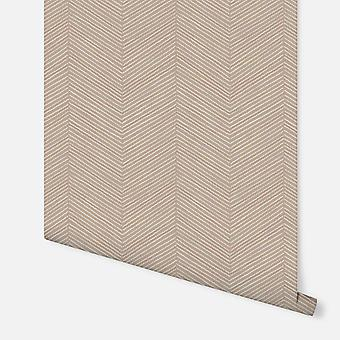 610706 - Arrow Weave Natural - Arthouse Wallpaper