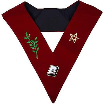 Masonic scottish obrzęd 14 stopień złożyć perfekcji haftowane kołnierz