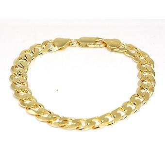 TOC Goldtone on Sterling Silver Gents 13 Grams 7 inches Curb Bracelet