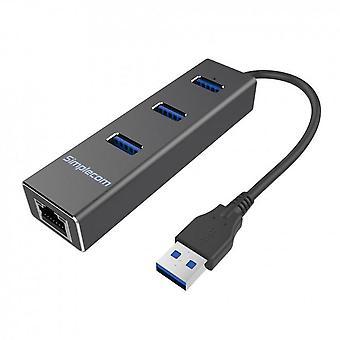 Simplecom CHN410 Aluminium 3 Port USB 3.0 HUB