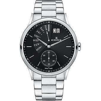 Edox - Wristwatch - Men - Les Vauberts - Date Retrograde - 34500 3M NIN