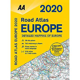 AA Road Atlas Europe 2020 - 9780749581428 Book