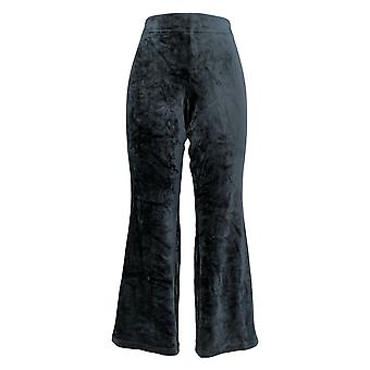 Anybody Women's Petite Pants Petite Velour Flare Pants Black A297304