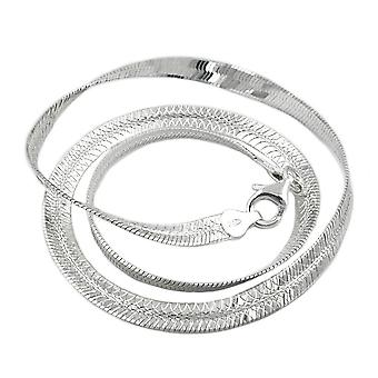 Chain snake flat, Silver 925