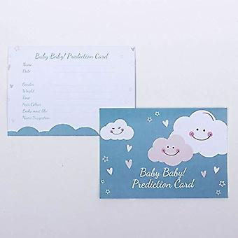 Baby Prediction Cards Smiling Clouds - Baby Shower Game Set of 6