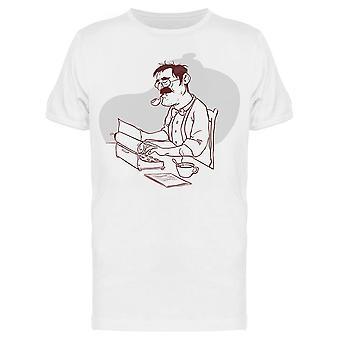 Man Novelist Clipart Tee Men's -Image by Shutterstock