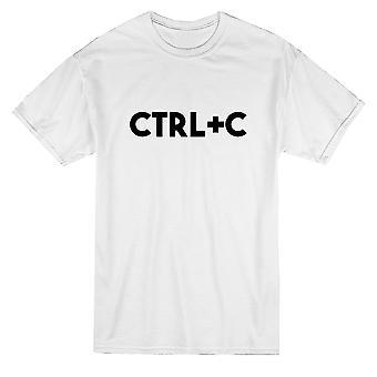 Ctrl + C Kopioi Tietokone Vastaavat Isä Poika Graphic Men's T-paita