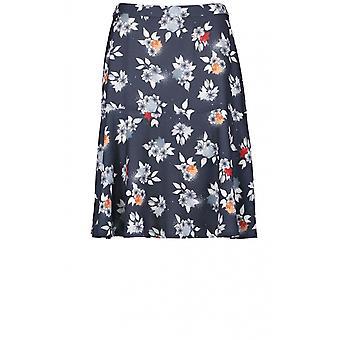 חצאית טאיפאן הדפסה פרחונית