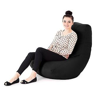 Zwarte faux lederen gaming Amoebe Bean Bag ligstoel stoel