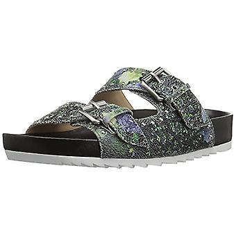 The Fix Women's Upson Double Buckle Studded Footbed Platform Slide Sandal