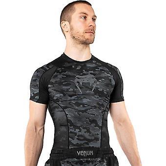 Venum Defender Camo Oscuro Manga Corta Rash Guard Negro/Gris