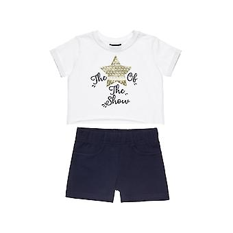 Alouette Girls' Five Star Shirt Set Cropped And Shorts