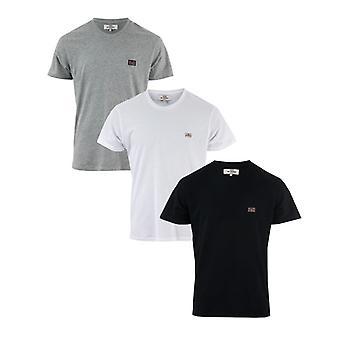 Men's Ben Sherman Baxter 3 Pack T-Shirt in schwarz