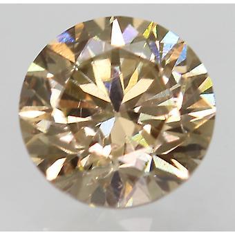 Cert 0.55 Ct Fancy Brown VVS2 Round Brilliant Enhanced Natural Diamond 5.02m 3VG