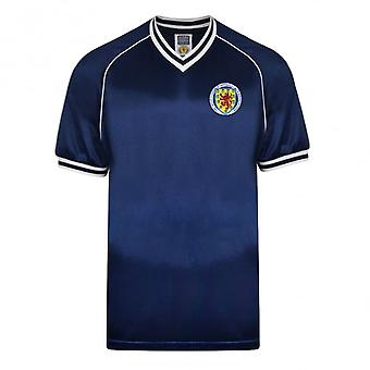 Score Draw Skottland 1982 retro fotbolls tröja