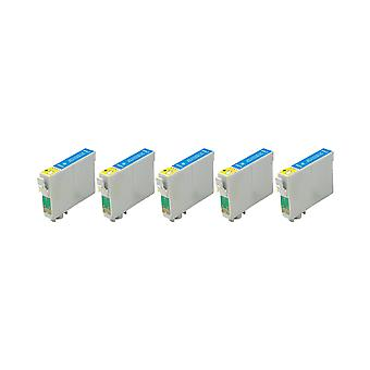 RudyTwos 5x Replacement for Epson Seahorse Ink Unit LightCyan Compatible with Stylus Photo R200, R220, R300, R300M, R320, R325, R330, R340, R350, RX300, RX320, RX500, RX600, RX620, RX640