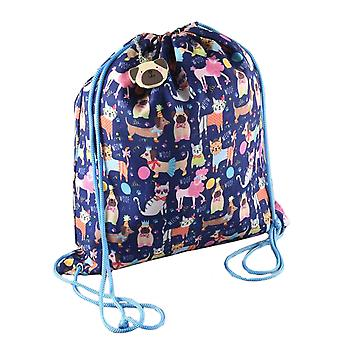 Girls pets drawstring swim bag