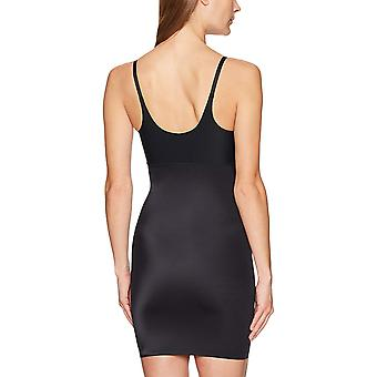 Arabella Women's Shine Open Bust Shapewear Slip, Noir, Large
