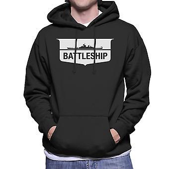 Hasbro Battleship Silhouette Logo Men's Hooded Sweatshirt
