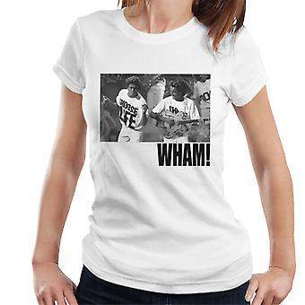 Wham! Live Performance Black And White Women's T-Shirt