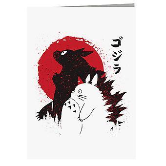 Biglietto d'auguri Godzilla Totoro