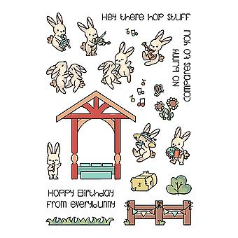 LDRS Creative Bunny Band Pals Clear Stamps