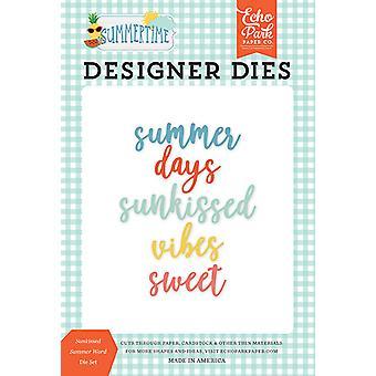 Echo Park Sunkissed Summer Word Dies