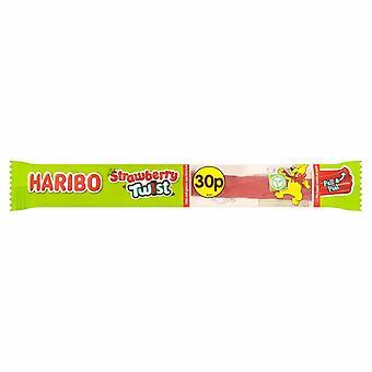 Haribo Strawberry Twist Stixx, bonbons en vrac, 30 paquets de 25g