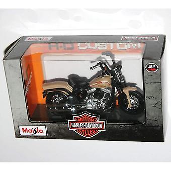 Maisto Harley Davidson 2008 FLSTSB Cross Bones Beige Motor 1:18