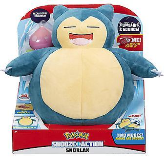 Pokémon Snooze Action Snorlax Stuffed Toy Plush Stuffed Animals With Sound