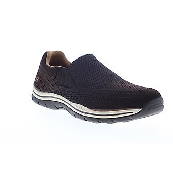 Skechers Expected Gomel  Mens Brown Mesh Slip On Lifestyle Sneakers Shoes