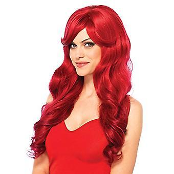 """Leg Avenue Women's Wig, Red 27"""" Long Wavy, One Size"""