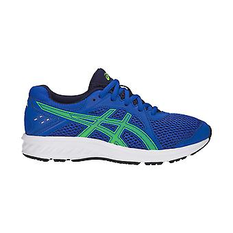 Asics Jolt 2 Kids Boys Running Fitness Training Trainer Shoe Blue/Green