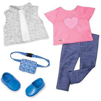 Notre génération 70.30394Z Trendy Traveler Toy Accessoires Outfit, pour une poupée de 18 pouces / 46 cm