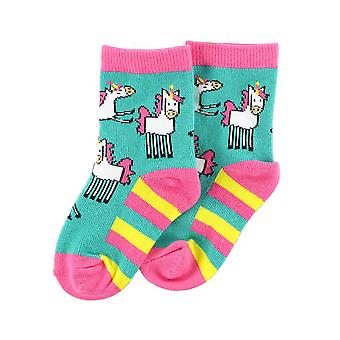 Lazy One Unicorn ISK327 Baby Girl's Multicoloured Socks