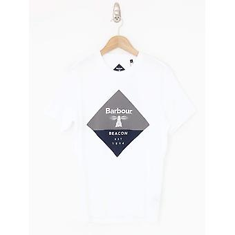 Barbour Beacon Diamond Print Tee - White