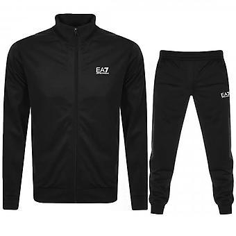 EA7 Emporio Armani Black Zip Up Polyester Tracksuit 8NPV71 PJ08Z