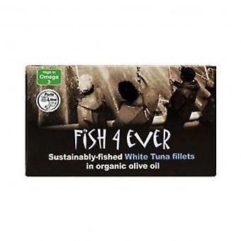 الأسماك 4 من أي وقت مضى--أبيض التونة شرائح اللحم في زيت الزيتون 220 غرام