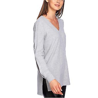 1.État | Confortable Split-Sleeve V-Neck Top