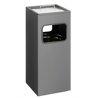 Metal de lixo durável 333158 com Praça de Cinzas, antracito